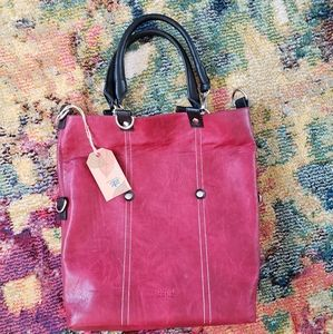 NWT ESPE Vegan Leather bag in Groovy red